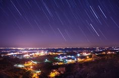 star trails above west bank by Ali Alawiedi on Sky Night, Star Trails, Night Photography, Ali, Explore, Stars, Ant, Sterne, Star