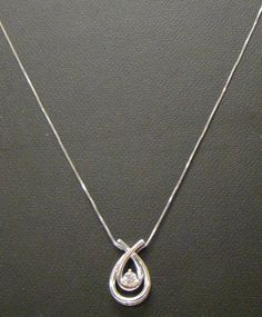 "10K WHITE GOLD 1/5 CARAT ROUND DIAMOND SOLITAIRE PENDANT 16"" CHAIN NECKLACE 2.9g #Pendant"