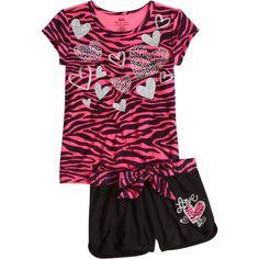 Zebra Pajama Short Set short sets ($29) ❤ liked on Polyvore