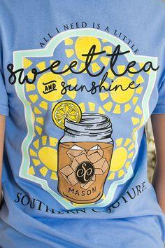 Sweet Tea & Sunshine Tee   Southern Couture   Siloe
