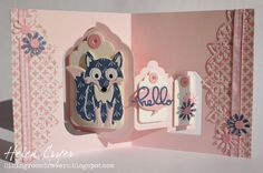 Helen Cryer using the Pop it Ups Tags Pivot Card, Dutch the Fox, Paris Edges and accessory dies by Karen Burniston for Elizabeth Craft Designs. - The Dining Room Drawers: Dutch the Fox Tags Pivot Card