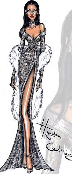 Fashion Illustration by Hayden Williams for Rihanna | House of Beccaria~