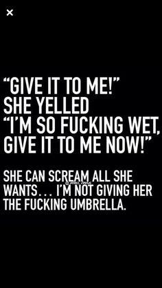 Nope! I'm keeping the umbrella!