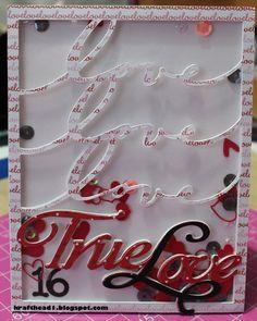 True Love- Scrapbook.com - Perfectly die cut card.