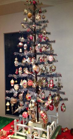 German Feather Christmas Tree Antique Ornaments Vintage Trees Victorian