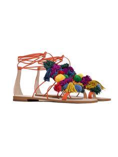 Pom pom sandal, £49.99, Zara