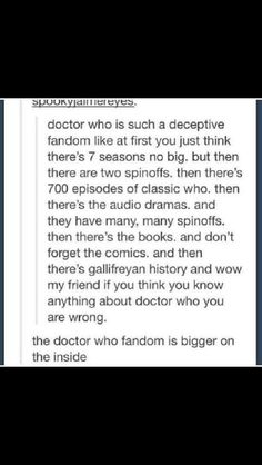 And what a wonderful fandom it is.
