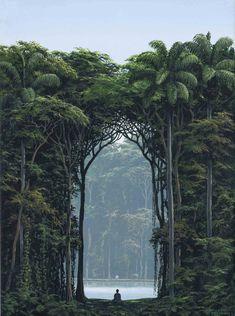 El Otro Yo by Cuban artist Tomas Sanchez Beautiful World, Beautiful Places, Beautiful Pictures, Magritte, Fantasy Landscape, Landscape Design, Amazing Nature, Amazing Art, Fine Art Photography