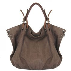 Cool! Ladies Original Leisure Simple Solid Canvas Hobo Handbag Crossbody Shoulder Bag  just $58.99 from ByGoods.com! I can't wait to get it!