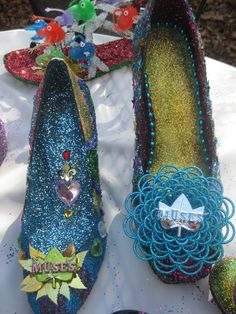 Krewe of Muses Decorated Shoes