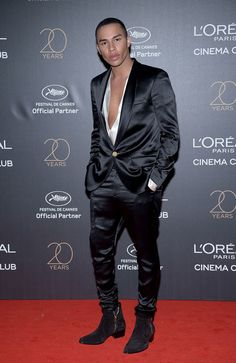 Olivier Rousteing attends the Gala 20th Birthday Of L'Oreal In Cannes during the 70th annual Cannes Film Festival at Martinez Hotel on May 24, 2017 in Cannes, France.