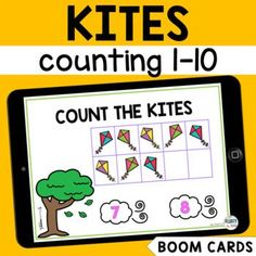 Let's have fun learning numbers 1 to 10 with this NO-PRINT Kite Counting 1-10 Boom Cards : Spring Math Boom Cards! These digital Boom Cards are self-checking and interactive, making them perfect for distance learning or online class resources. Learning Numbers Preschool, Preschool Age, Fun Learning, Preschool Activities, Subtraction Activities, Math Games, Let's Have Fun, Card Reading, Math Centers