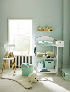 Kinderzimmer // Mint / Weiß