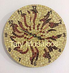 Reloj con mosaico