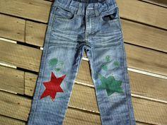pantalon con parches