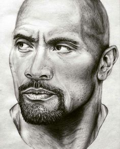 Awesome sketch of Dwayne.