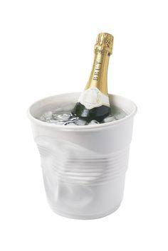 Crumpled Champagne Bucket - White Uncommon Gifts, Champagne Buckets, Barware, Future, Wedding, Valentines Day Weddings, Future Tense, Weddings, Marriage