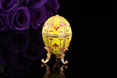 Find More Figurines & Miniatures Information about New arrive yellow faberge egg for gift,High Quality egg,China egg faberge Suppliers, Cheap egg gift from Qifu Craft & Gift  on Aliexpress.com