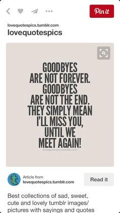 Goodbye quotes …