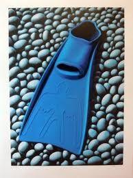 The Blue Flipper by Micheal Smither. Wall Art print from The Little Art Gallery, Tairua, Coromandel, NZ New Zealand Landscape, New Zealand Art, Nz Art, Maori Art, Contemporary Artwork, Cool Art, Awesome Art, Art Education, Art Boards