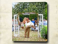Wall Art Canvas With Wedding Photo And Lyrics From First Dance Diy Decorating Ideas Pinterest Canvases Songs Printing