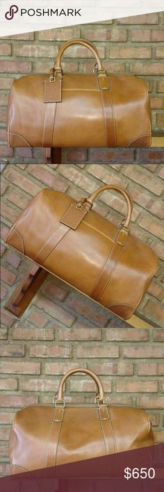 POLO Ralph Lauren Leather Luggage Duffel Bag Travel in style with this Brand new never used duffel bag it has a few scratches which is normal for the type of leather as you use this bag it will get better with age it is truly gorgeous Polo by Ralph Lauren Bags Luggage & Travel Bags