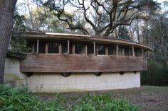 George Lewis house/ The Spring House.1954. Tallahassee, Florida. Usonian Style. Frank Lloyd Wright