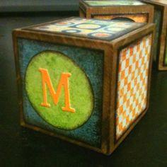 Wood letter block.