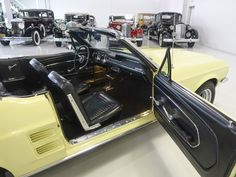 The 1967 Ford Mustang Convertible featured here is finished in the stunning factory color combination of Springtime Yellow over a black interior and black power folding convertible top. Mustang Convertible For Sale, North America, Bike, Vehicles, Car, Bicycle, Automobile, Bicycles, Autos