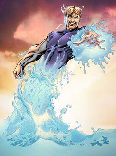 Risultati immagini per Hydro man marvel foto Marvel Comics Art, Marvel Dc Comics, Comic Books Art, Comic Art, Book Art, Sinister 6, Spiderman, Marvel Villains, Man Character