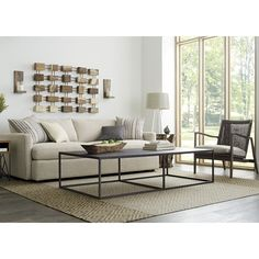 Lounge Couch Crate And Barrel - Choosing the sofa for your living area can be one of the most exciting experiences, even i Small Living Rooms, Living Room Sofa, Home And Living, Living Room Decor, Decor Room, Living Area, Coffee Table Crate And Barrel, Large Coffee Tables, Mid Century Modern Side Table