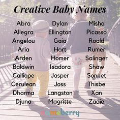 Creative Baby Names Artistic baby names for the creative baby unisex baby names baby names gender neutral baby names list baby names uncommon baby names unique Unisex Baby Names, Cute Baby Names, Baby Must Haves, Baby Girl Names, Baby Boys, Western Baby Names, Baby Name Generator, Gender Neutral Names, Name Inspiration