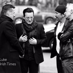 All four members of U2 turned up at funeral of DJ Tony Fenton in Dublin today…