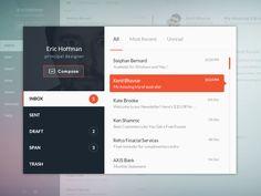 Email UI design! by Mahesh Kantariya
