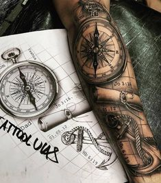 Tattoos Discover Sexy Tattoos For Women With Meaning - diy best tattoo ideas Tattoo Sleeve Designs Tattoo Designs Men New Tattoos Body Art Tattoos Grace Tattoos Small Tattoos Badass Tattoos Tatouage Xo Nautical Tattoo Sleeve Forearm Sleeve Tattoos, Best Sleeve Tattoos, Tattoo Sleeve Designs, Compass And Map Tattoo, Map Compass, Trendy Tattoos, Tattoos For Guys, Cool Tattoos, Badass Tattoos