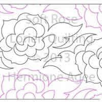Digital Quilting Design Soft Rose by Lorien Quilting.
