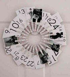 calendrier de l'Avent original en pinces à linge et photos