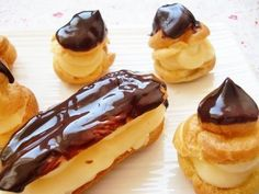 Cake Pops, Eclairs, Dessert Recipes, Desserts, Donuts, Cheesecake, Pudding, Favorite Recipes, Sweets