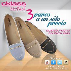 """Los """" flats"""" o zapatos de piso son esos zapatos súper cómodos que puedes llevar a casi cualquier lado. Son ideales para caminar todo el día.    Los """"flats"""" son tus mejores aliados para descansar los pies de los tacones.   Para que siempre luzcas diferente los tenemos en #SixPack   ¡Tres pares a un sólo precio!  Elige más estilos de la coleccíon #CklassOtoñoInvierno2014 aquí -> http://ckl.li/1pFDDO8"""