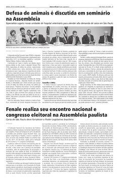 Diário Oficial - 24/11/2012 - Encontro da Fenale em São Paulo