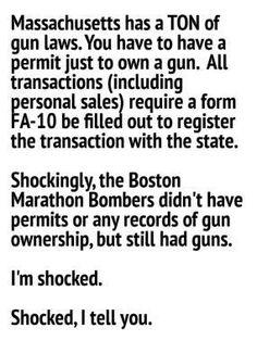 Boston, Massachusetts, bombing, bombers, gun laws, gun control, anti-gun control, rights, guns, 2nd amendment, criminals, crime, violence