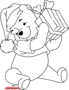 Cartoon Coloring Pages, Disney Coloring Pages, Coloring Book Pages, Coloring Pages For Kids, Coloring Sheets, Christmas Yard Art, Disney Christmas, Christmas Images, Christmas Colors