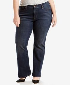 Levi's Plus Size 415 Relaxed-Fit Bootcut Jeans - Blue 38 (US 18) R