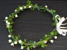 Haarkranz Haarband Headpiece Hochzeit von Sarahs Seidenblumen Studio auf DaWanda.com