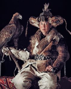 Ergalim of Altansogts the proud kazakh warrior of North Western Mongolia, triumphantly presents himself, his eagle and his cultural capability. #JimmyNelson #BeautyCouncil #DiscoverBeauty