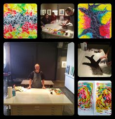 "George Wilson Demonstration - 2/07/15  ""Subtraction with Line"" - Demonstration on the subtractive method of using line to remove ink from the printing substrate with Monothon artist and Jack-of-all-trades, George Wilson.   Artspace at Untitled in Oklahoma City, OK"
