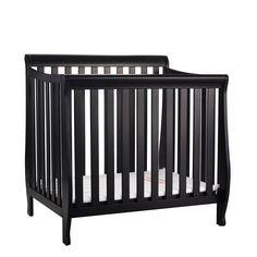 Athena Alice Mini Crib with Mattress Pad_Black. The Alice Mini Crib is the perfect space-saving alternative to a full-size crib. With the same traditional charm and rich finishes, the Alice Mini Crib is baby's first nursery in a neat little package. Crafted from sturdy New Zealand pine wood, the Alice Mini Crib provides a solid haven for baby's dreams for years. The Alice Mini is lead and phthalate safe. Available in a range of 4 classic, non-toxic finishes.