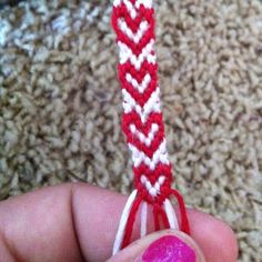 DIY Valentine - Heart Friendship Bracelet @Amanda Snelson James you would love to do this with your High School small group!