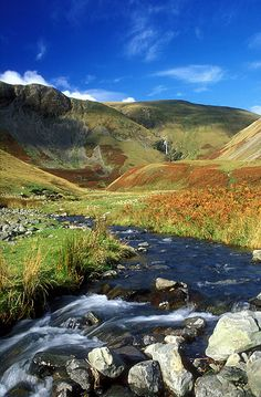 Cautley Spout, Cumbria      England's highest waterfall above ground, Cautley Spout in the Howgill Fells     of Cumbria tumbles 650ft to the ground. There are four drops in total before     the falls reach the River Rawthey. The fells offers excellent views of both     the Lake District and the Yorkshire Dales.