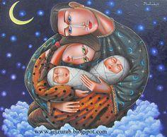 "Zurab Martiashvili, ""In seventh heaven"" 60x50 canvas \ oil 2014, Jewish Motifs"